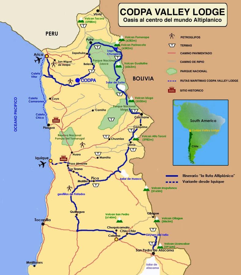 mapa ruta altiplanica